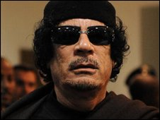 Libya flashes with Kaddafi